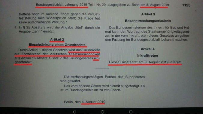 grundrechte werden eingeschränkt zum 09.08.2019