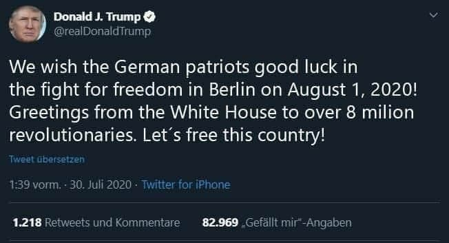 trump zu demon in berlin zum 01.08.