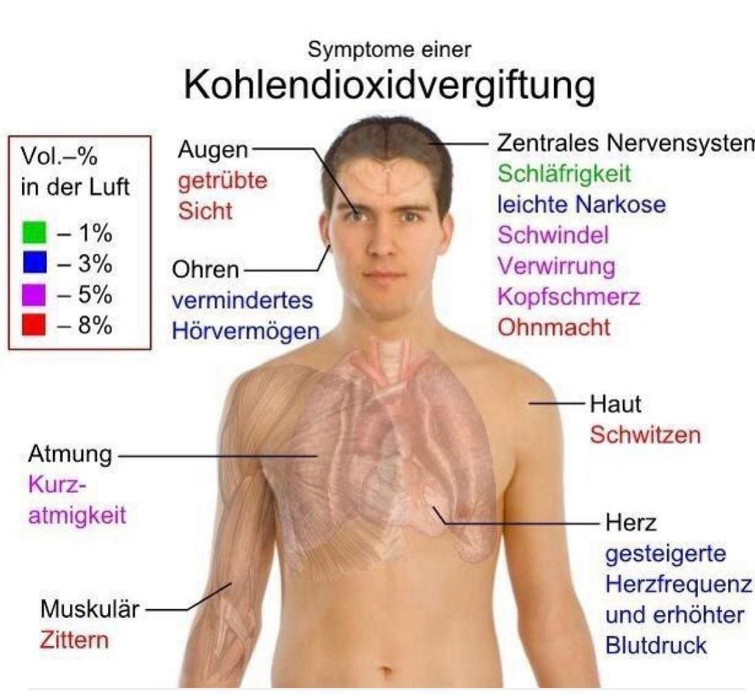 symthome kohlendioxidvergiftung